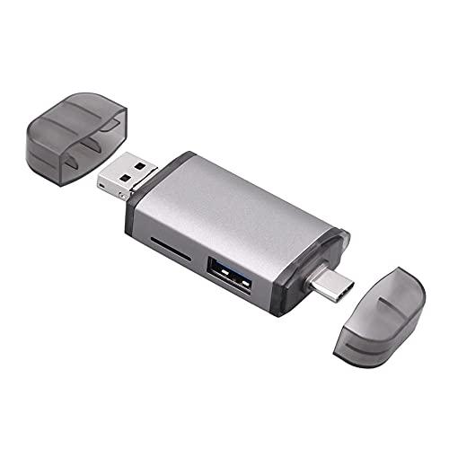 Adaptador Micro USB OTG a USB 2.0, lector de tarjetas de memoria portátil para SDXC, SDHC, SD, MMC, RS-MMC, Micro SDXC, Micro SD, tarjeta Micro SDHC y tarjeta UHS-I