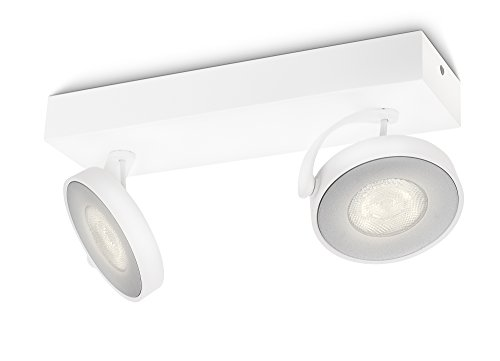 Philips myLiving Clockwork LED Spotbalken, 2-flammig, weiß, 531723116