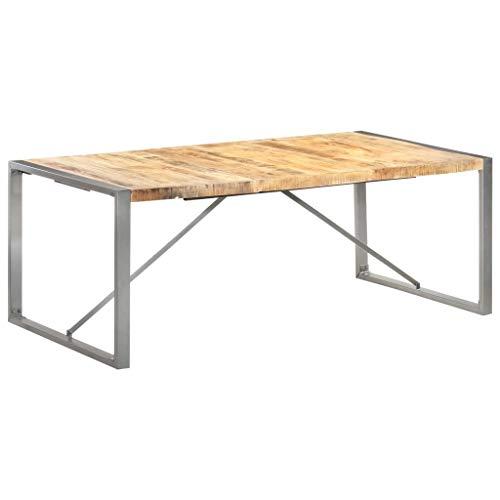 SKM Tavolo da Pranzo 200x100x75cm in Legno Massello di Mango Grezzo