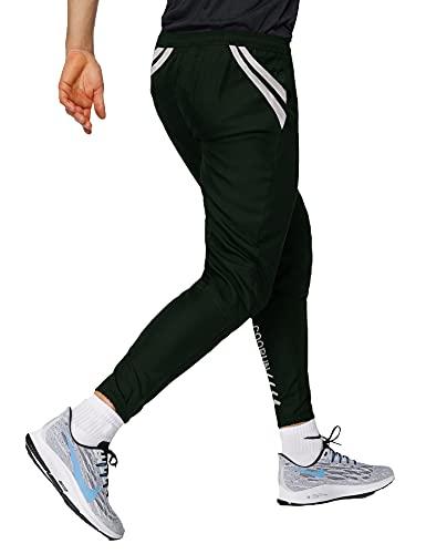 Coorun Active hardloopbroek voor heren, sportbroek, jogger, trainingsbroek, regular fit, fitness, donkergroen, XXL