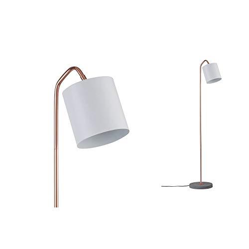 Paulmann 79625 Neordic Oda Stehleuchte max. 1x20W Stehlampe für E27 Lampen Standleuchte Weiß matt/Kupfer m/Grau 230V Metall/Beton ohne Leuchtmittel