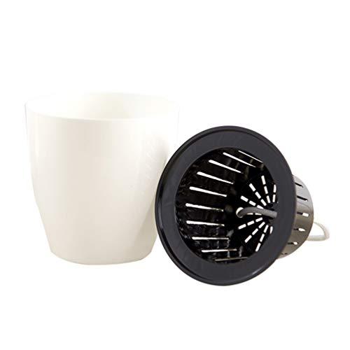 CLISPEED Jardinière Auto-Arrosante Ronde en Plastique Ornement de Table de Pot de Fleur pour Le Bureau de La Maison Jardin (Calibre Extérieur 15 Cm)