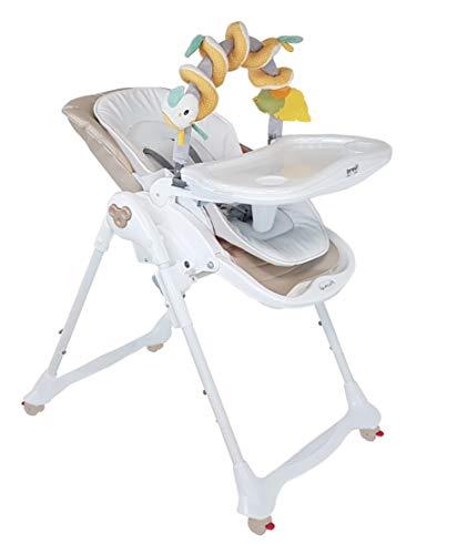 Brevi B Fun - Trona Pappa con asiento de piel sintética y arco, juegos de 0 meses, color beige