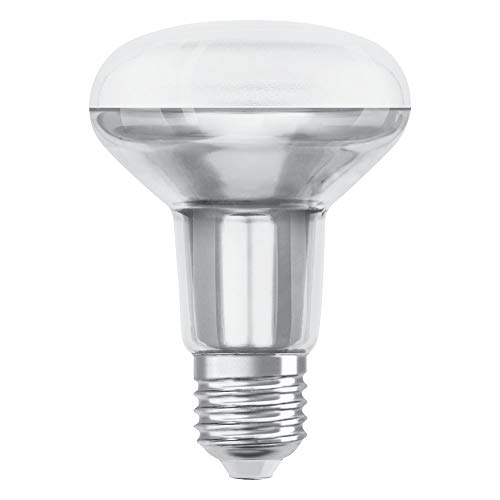 OSRAM Dimmbare R80 LED Reflektorlampe mit E27 Sockel, Warmweiss (2700K), Glas Spot, 9.6W, Ersatz für 100W-Reflektorlampe, LED SUPERSTAR R80