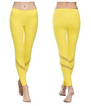yoga pants yellow