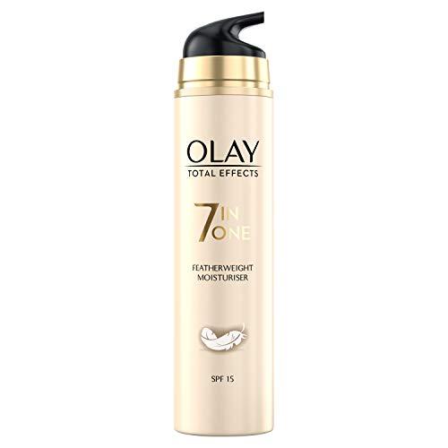 Olay Total Effects 7-in-1 Federleichte Feuchtigkeitscreme Für Frauen Mit LSF 15, 50ml, Tagescreme mit Vitamin E, B3 und B5 für Pflege & Schutz der Haut, Gesichtscreme Damen, Gesichtspflege