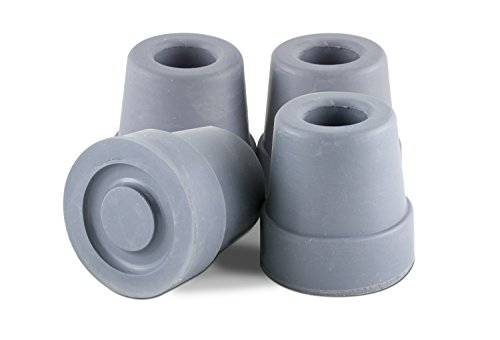 Essential Medical Supply T50012g Quad Cane Tips, Gray, 1/2 Inch