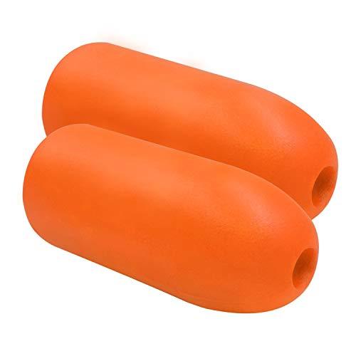 Jezero Deep Water 5x11-Inch Float, Orange, 2-Pack