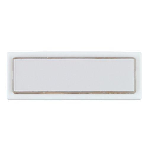 UNITEC 40791 Klingel-Taster, Aufputz mit Namenschild, beleuchtet, weiߟ