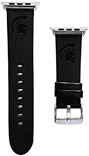 Affinity Bands Michigan State University Spartans Top Grain Oil Tanned Leather Band Compatible with Apple Watch - Available in Three Leather Colors - Band ONLY