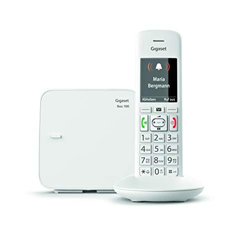 Gigaset E370 Telefono Cordless, Numeri Grandi, Suonerie Forti, Esclusione Suoneria Fasce Orarie, Bianco [Versione Italiana]