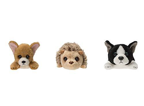 Russ Berrie Petooties Plush 3 Pack: Chihuahua, French Bulldog, Hedgehog