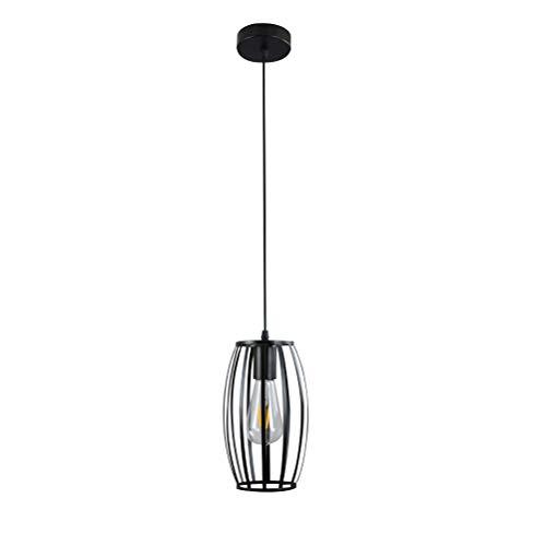 OSALADI - Lámpara de techo para restaurante, 220 V, E27, personalizable, estilo vintage, de hierro forjado, no incluye bombilla