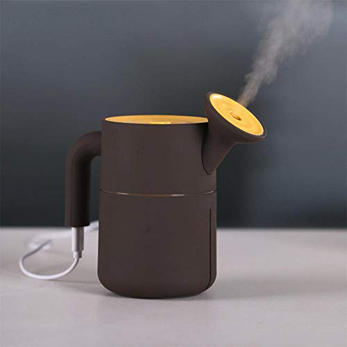 HDFIER luchtbevochtiger slaap etherische olie Diffuser Aroma Diffuser, ultrasone luchtbevochtiger met Cool Mist, Waterloze Auto-Off Mini creatieve waterkoker oranje