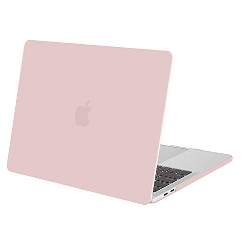 MOSISO MacBook Pro 13 inch Case 2019 2018 2017 2016 Release A2159 A1989 A1706 A1708, Plastic Hard Shell Cover Compatible with MacBook Pro 13 with/without Touch Bar and Touch ID, Rose Quartz