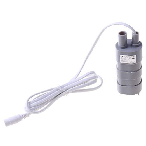 ZZALLL 12V 1,2A DC Micro Tauchmotor Wasserpumpe 12L / Min 600L / H 5M 5,5x2,1 Buchse