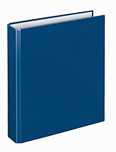 Veloflex 1153050 Ringordner Basic, Ringbuch, Ordner, DIN A5, 4-Ring-Mechanik, 196 x 230 x 30, Karton, blau