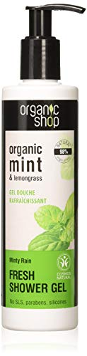 Organic Shop, Shower Gel Refreshing Mint Lemongrass, Apricot, 280 ml