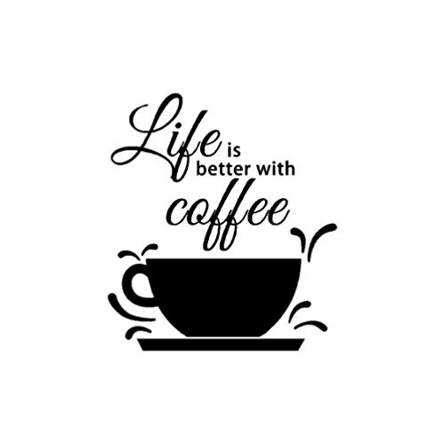 Muursticker Koffie Muursticker Kan De Smaak Van Het Leven Verbeteren Citeer Een Kopje Koffie Muursticker 37cm X42cm Muursticker, Behang, Poster