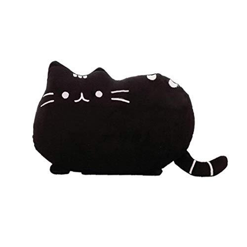 Forme De Chat Oreiller Coussin De Chaton Mignon Doux Animal En Peluche Oreiller Pour Chambre Accueil Balcon Canapé Décor Noir