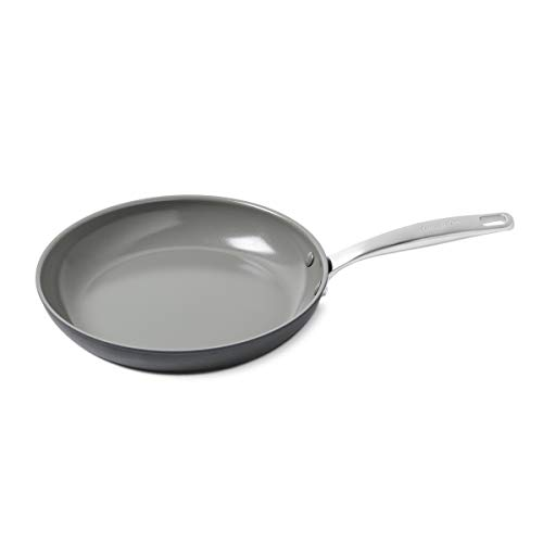 GreenPan Chatham Healthy Ceramic Nonstick Gray Frying Pan, 10'