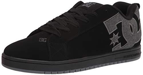 DC Herren Court Graffik Skate-Schuh, Schwarz Schwarz Schwarz Grau, 43 EU