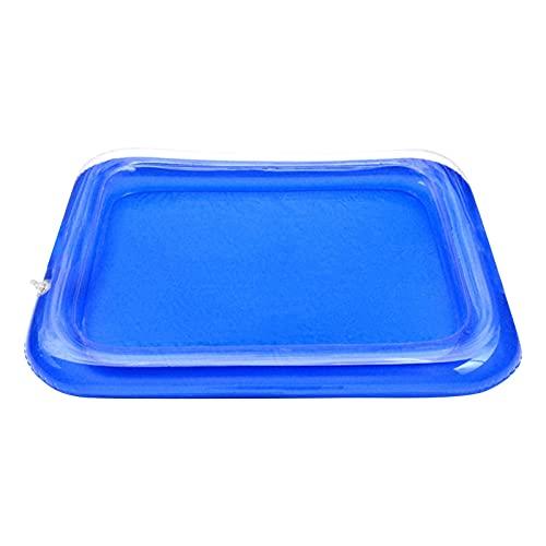 hukezhu Rectangular Pool - Kinder Aufstellpool - Planschbecken - 40×25×7cm - Für 2+ Jahre-Blau-Babypool Fischteich Sandtisch Kinderspielzeug Sandtisch (1PC)