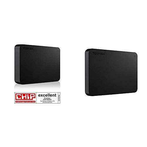 Toshiba Canvio Basics - Disco Duro Externo, 2.5 Pulgadas (6.4 cm), Negro, 4 TB + Canvio Basics, Disco Duro, 2 TB, Negro