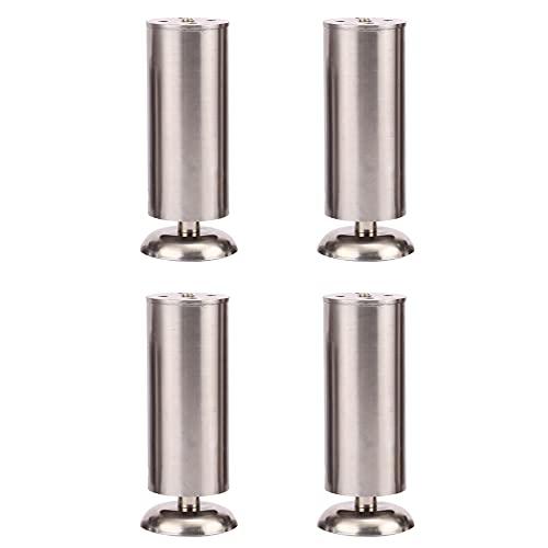 4 patas de soporte para muebles, acero inoxidable engrosado, ajustable para aumentar la altura, adecuado para sofá, zapatero, mueble de baño y otros muebles/A / 120mm