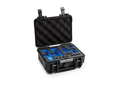 B&W - Maletín de Transporte para dji Pocket 2 / dji Pocket 2 Kreativ Combo Gimbal Type 500, Color Negro, Resistente al Agua según la certificación IP67, Resistente al Polvo, irrompible e irrompible