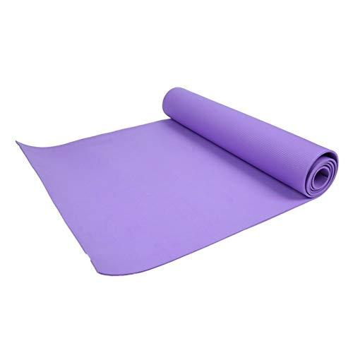 Yoga mat LKU Voor training, yoga en pilates babyslaapmat 4 mm Handige dikke EVA Comfort Foam yogamat, zwart