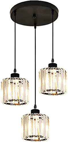 Minimalist Ceiling Lamp,Popular Household Chandeliers Simple And Modern 3-head Retro Wrought Iron Chandelier Table Lamp For Dining Room (Color : Variable light)
