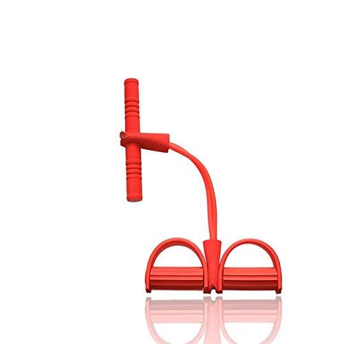 Widerstand elastische Seil Sport Übung Rudergerät Bauchwiderstand Band Home Gym Sporttraining Fitnessgeräte Gummiband - Rot