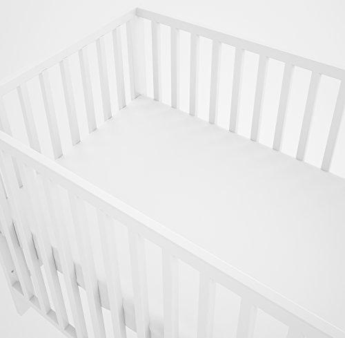 Ensemble 3 pièces : linge de lit bébé 90 x 120 cm avec drap-housse et tour de lit coussins – 6...