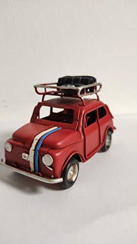 ZAMBIASI Fiat 600 in Miniatura Modellino Vintage (Rosso)