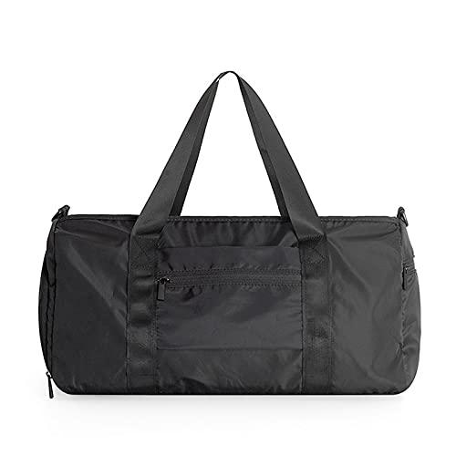 FIYUK Sport Gym Bag Dry Wet Separated Sports Duffel Bag Training Handtasche mit Schuhfach für Schwimmen Yoga Wandern Schwarz