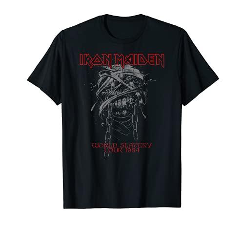Iron Maiden - World Slavery 1984 Camiseta