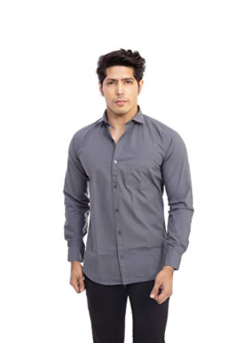 Indian Threads Giza Cotton Formal Shirt for Mens Full Sleeve