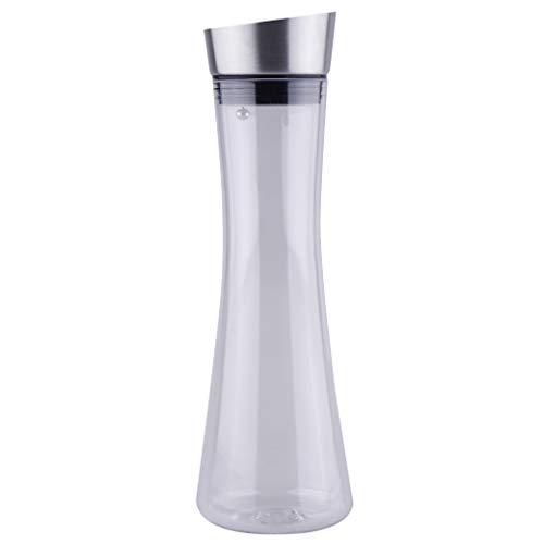 PETSOLA Durchsichtige Kaltwasserkanne Kaffeesaftkanne Hitzebeständig 600 1000 1600ml - 1000 ml
