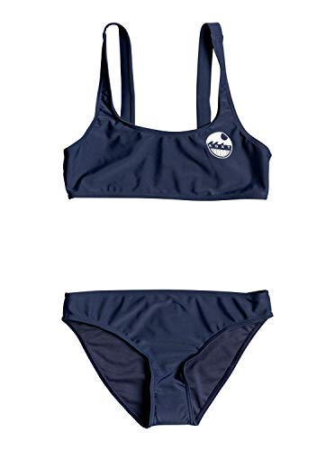 Roxy Early Conjunto De Bikini Bralette para Chicas 8-16 Conjunto De Bikini Bralette, Niñas, Mood Indigo, 12