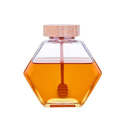 Dispensador de miel 3 unids Tarro de miel hecho a mano con dípper Mango largo Cuchara de miel Mezcla Stick Stick Dipper para café Milk Supplies de té (Color : C)