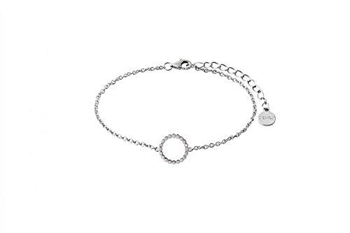 Damen-Armband Happy Hour 925 Sterling Silber rhodiniert Zirkonia 15-18,5cm XS2934