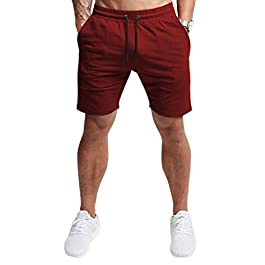 EVERWORTH Men's Casual Training Shorts Gym Workout Fitness Short Bodybuilding Running Jogging Short Pants
