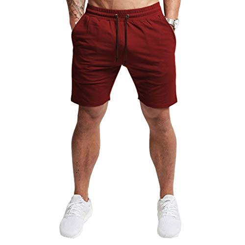 EVERWORTH Men's Casual Training Shorts Gym Workout Fitness Short Bodybuilding Running Jogging Short Pants