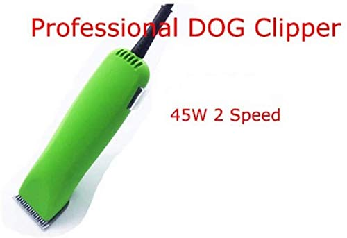 Tosatrice per Animali Professionale Kit Clippers Cane, 2-Speed Animal Professionale Clippers Cesoia Macchina for Cani (Color : Green)