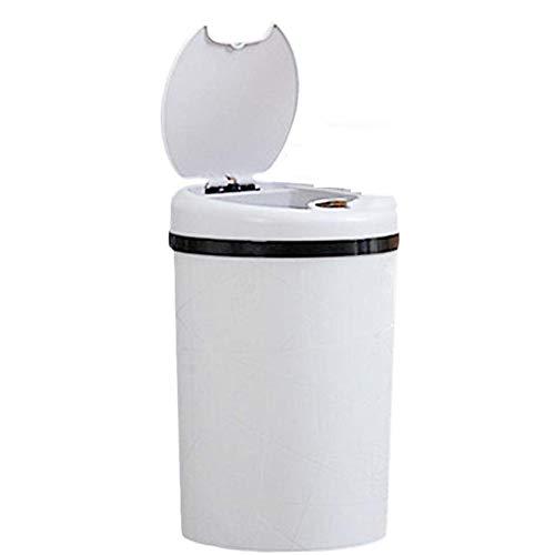 Automatische Hands-free sensor vuilnisbakken, keuken afvalbak met hand bewegingssensor,White