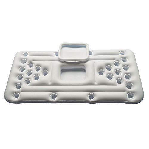 YJYQ Beer Pong Luftmatratze, Pool Pong Luftmatratzen Aufblasbarer Bierpong Pool mit 28 Tassenlöchern aus Hochdichtem PVC für Außen- Und Watplätze, 180x60cm