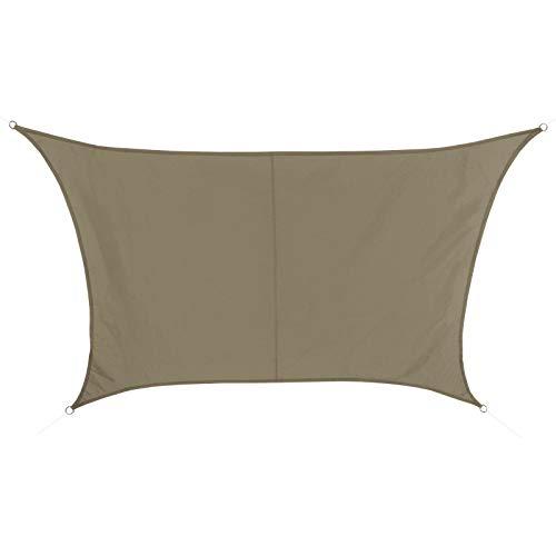BB Sport Toldo Vela 4m / 5m x 4m Capuchino Trapecio 100% poliéster [PES] Vela Sombra Protección UV 30+ Balcon Jardin Terazza