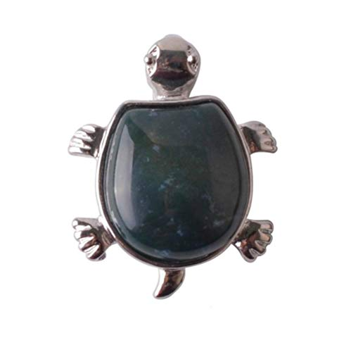 RANJN Nacklace Colgante Natural Cute Little Turtle, Ágata A