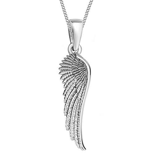 Flügel ANHÄNGER mit KETTE 925 Echt Silber Halskette Engel Engelsflügel (1) Silber, 45)